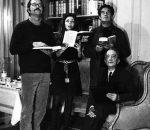Carlos Fuentes, Marie-José Paz, Octavio Paz y José Blanco, 1966.