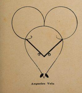 Retrato del periodista y escritor Arqueles Vela en trazos de Hugo Tilghmann.
