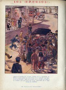 """""""Los babosos"""", cartón de Audiffred publicado el  23 de febrero de 1928."""